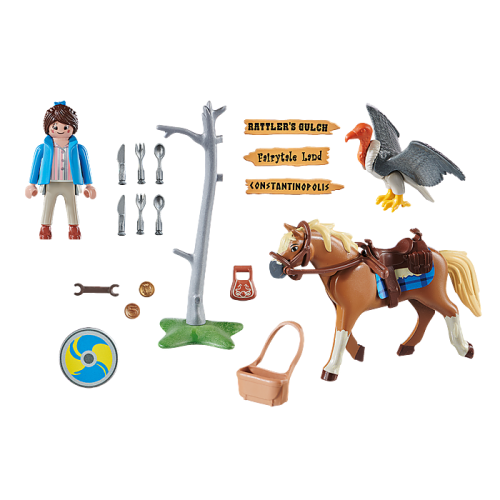 70072 PLAYMOBIL MARLA AND HORSE THE MOOVIE