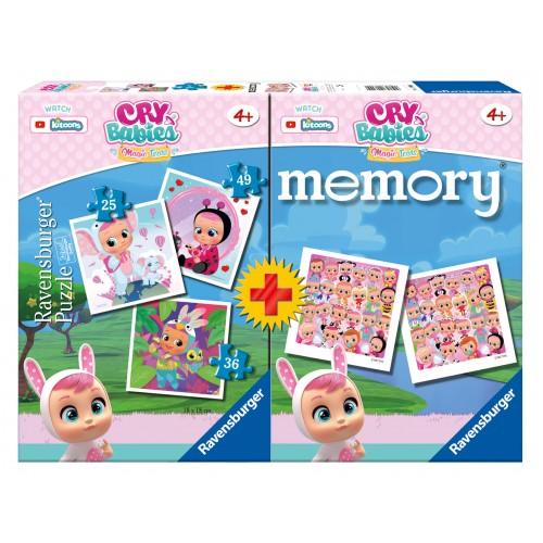 Memory + 3 PUZZLE Cry Babies - RAVENSBURGER