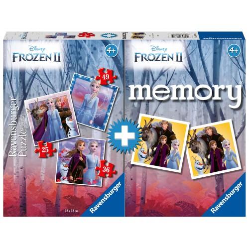 Memory + 3 Παζλ FROZZEN - RAVENSBURGER