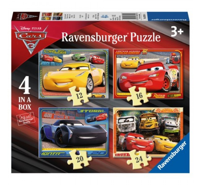 PUZZLE 4 IN 1 Cars - RAVENSBURGER