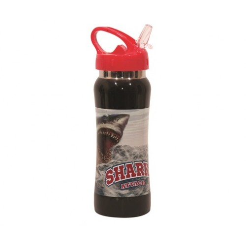 STAINLESS STEEL 580ML ANIMALS NO FEAR - SHARK ATTACT