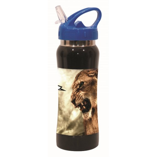 PAGOURI STAINLESS STEEL 580ML ANIMALS NO FEAR LION