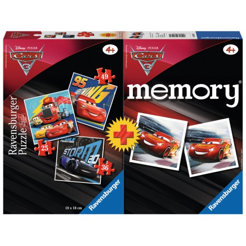 MEMORY AND 3 PUZLE CARS - RAVENSBURGER