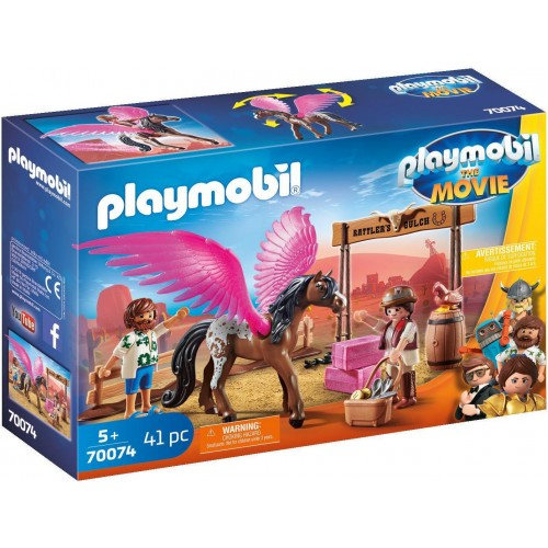 70074 playmobil the movie marla and del withflying hors